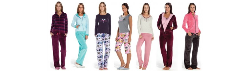 Турецкий трикотаж для дома и отдыха: пижамы,  комплекты, халаты, ночные рубашки.